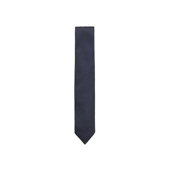 PAOLO ALBIZZATI CHECK EMBROIDERED TIE