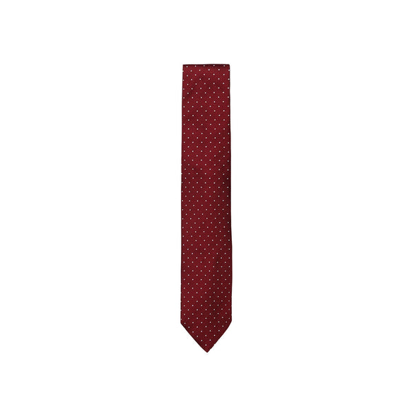 PAOLO ALBIZZATI RED DOT EMBROIDERED TIE