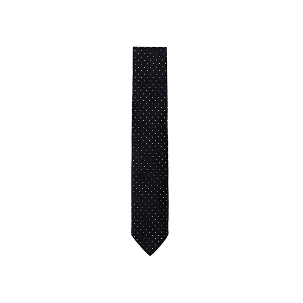 PAOLO ALBIZZATI BLACK DOT EMBROIDERED TIE