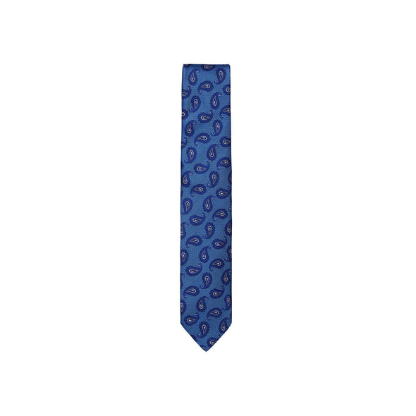 ASCOT OF GERMANY WOVEN BLUE PAISLEY TIE