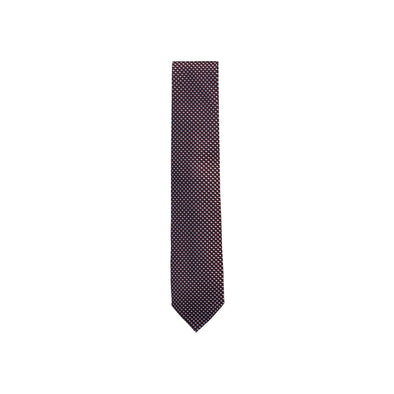 ZEGNA  EZ PATTERNED SILK TIE C