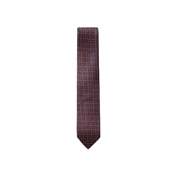 ZEGNA  EZ PATTERNED SILK TIE A