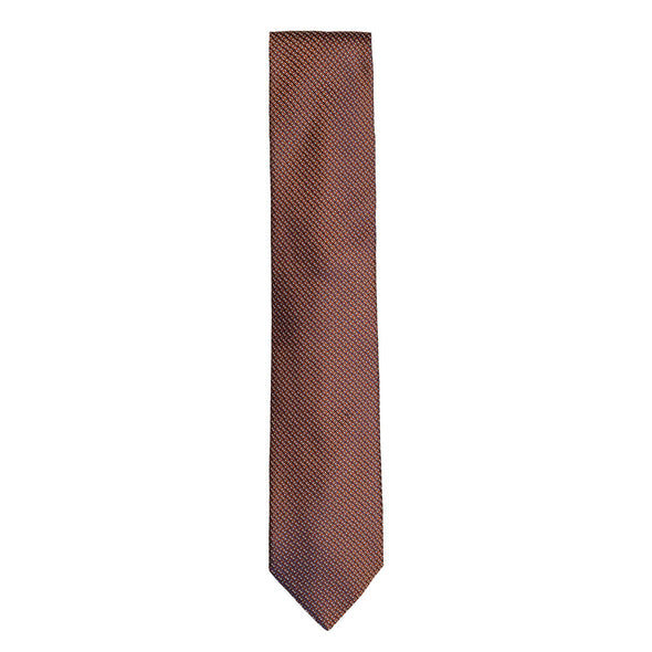 CANALI MICRO RECTANGLE PATTERN TIE