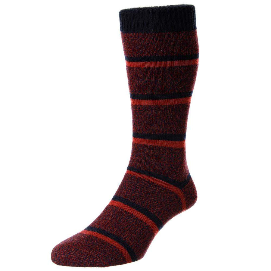 Scott Nichol Country Stripe Leisure Wool Socks