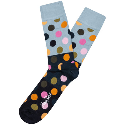 HAPPY SOCK BIG DOT BLOCK SOCKS