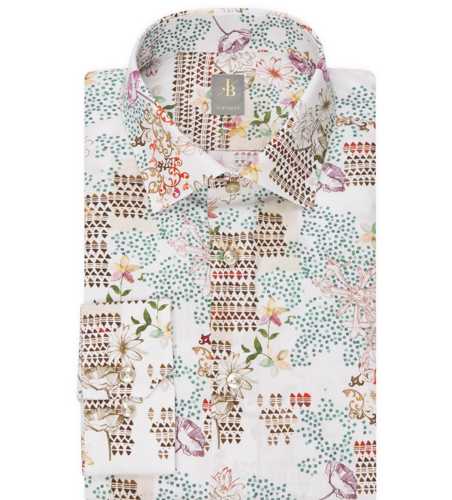 JACQUES BRITT MULTI PRINT SHIRT