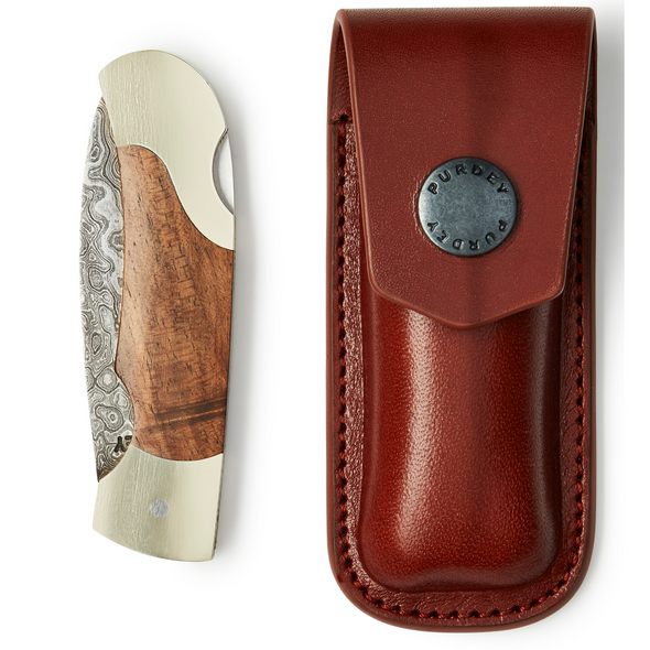 FULL DAMASCUS FOLDING POCKET KNIFE