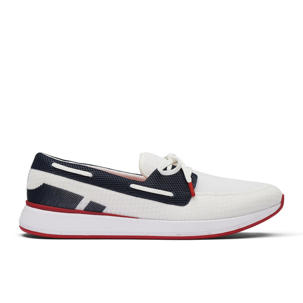 SWIMS BREEZE WAVE BOAT LOAFER  NAVY/WHITE