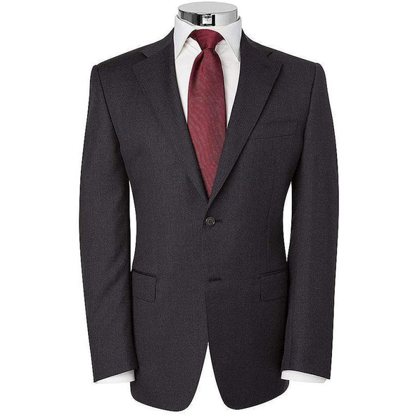 CANALI SERGE PLAIN SINGLE BREASTED WOOL SUIT