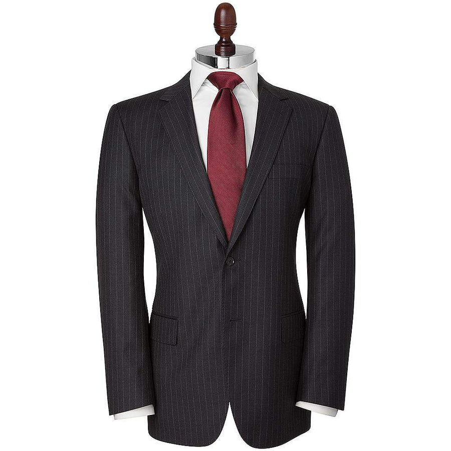 HB 1890 Chalk Stripe Single Breasted Wool Suit
