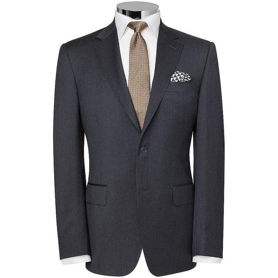 Canali Charcoal Fine Stripe Suit