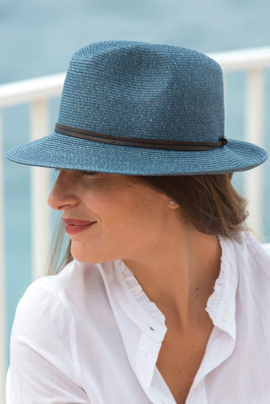 BORSALINO SUMMER HAT - DENIM
