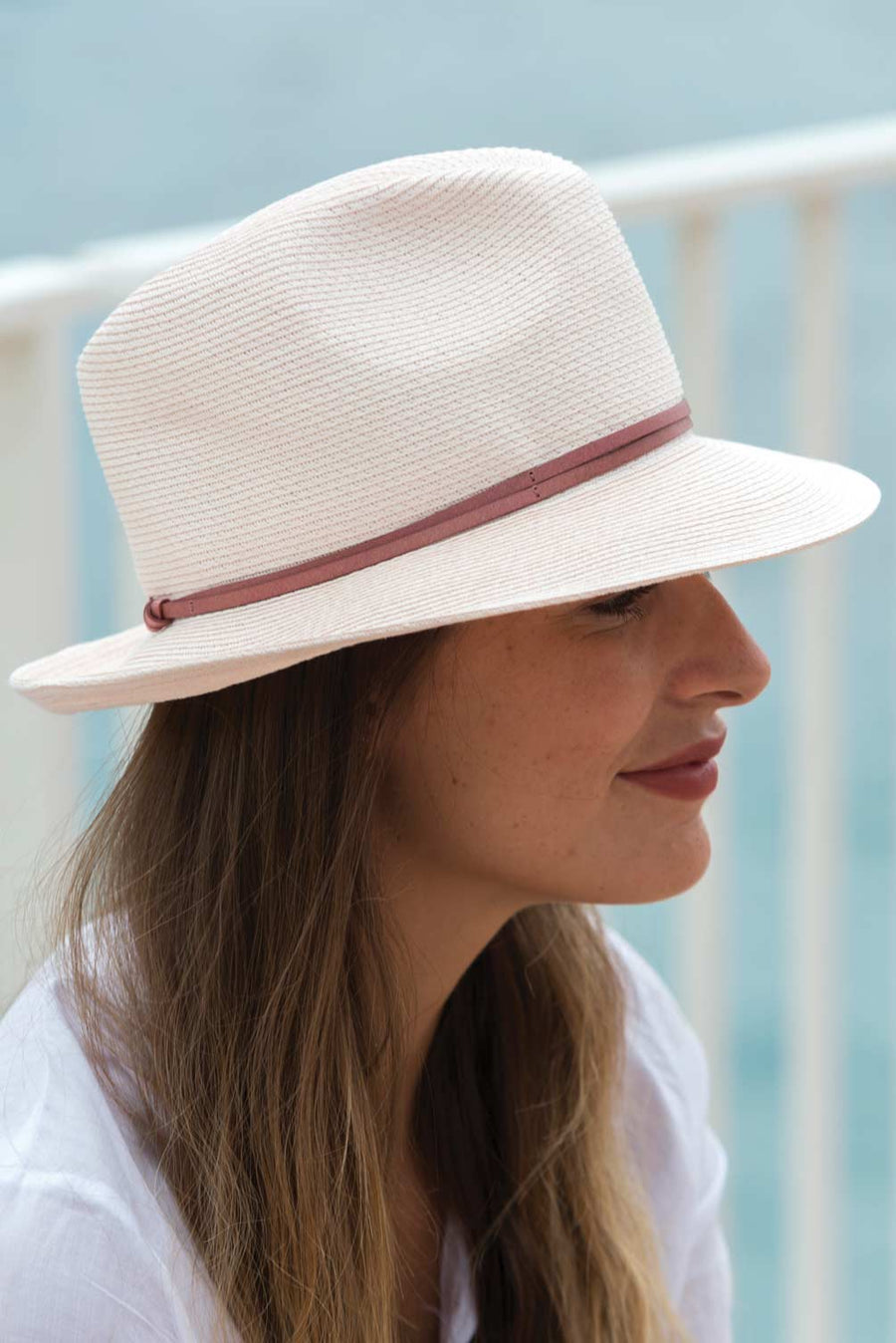 BORSALINO SUMMER HAT - POWDER PINK