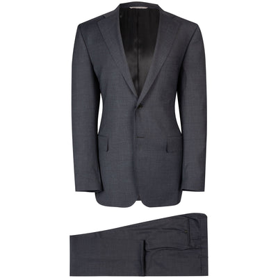 Canali Grey Crosshatch Suit