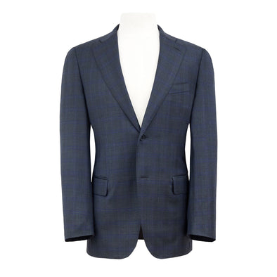 HENRY SARTORIAL X DORMEUIL CHARCOAL & BLUE CHECK SUIT