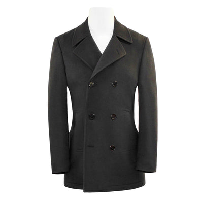 HENRY WOOL/ CASHMERE PEACOAT