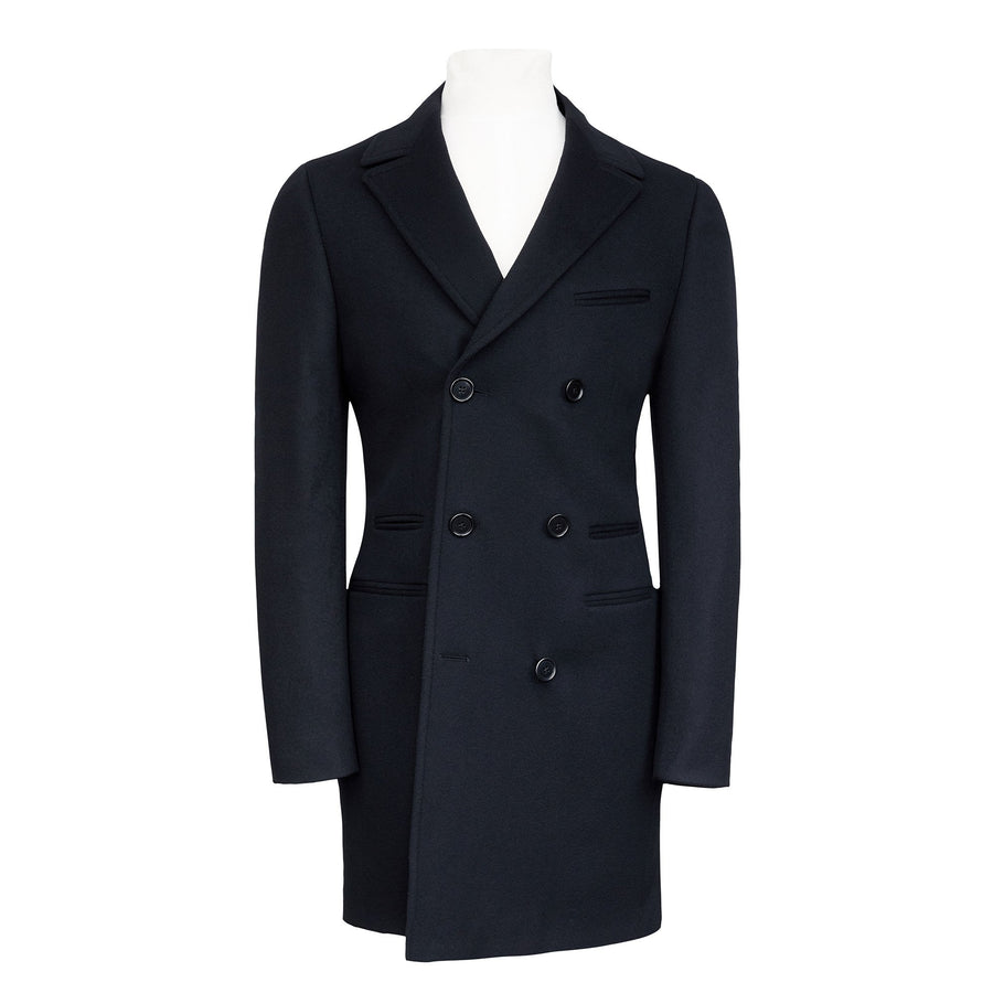 HENRY CASHMERE BLEND DOUBLE BREASTED COAT