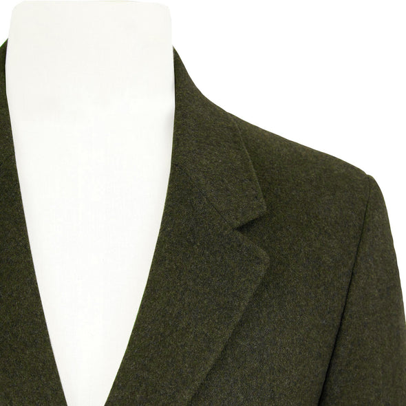 HENRY SARTORIAL SINGLE BREASTED WOOL COAT- FOREST