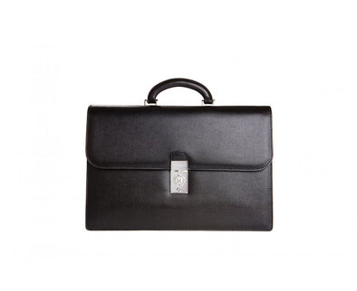 MORESCHI BRIEFCASE 2 GUSSETS BROWN