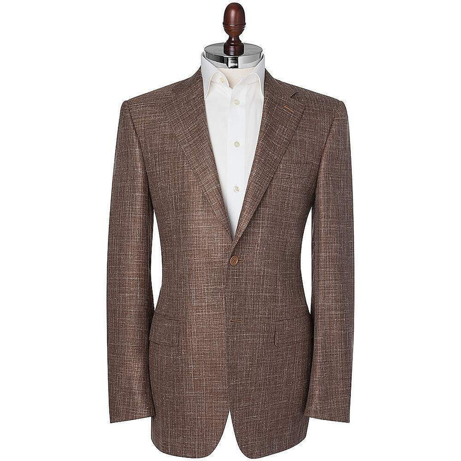 Canali Slub Wool Silk & Linen Sports Jacket