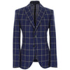 LBM 1911 Blue Windowpane Check Jacket