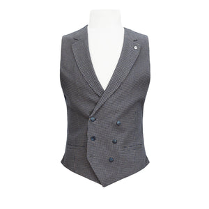 L.B.M 1911 HOUNDSTOOTH DOUBLE BREASTED WAISTCOAT