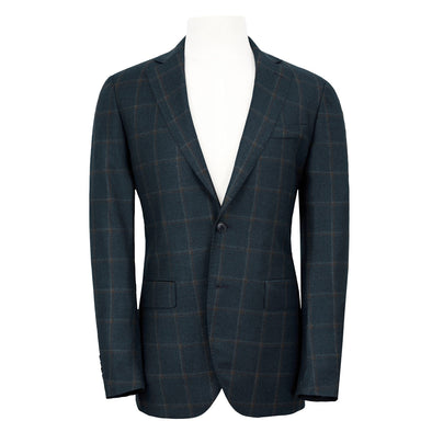 Henry Sartorial tailored blazer, teal check