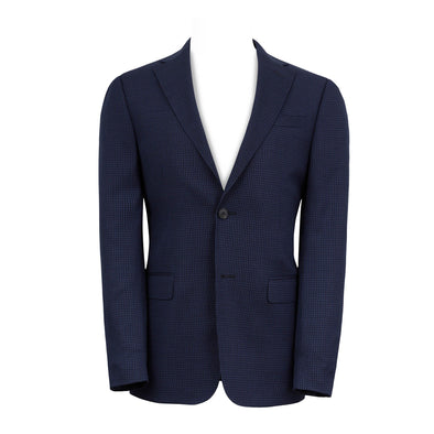 ZEGNA MINI CHCEK BLAZER Royal BLUE