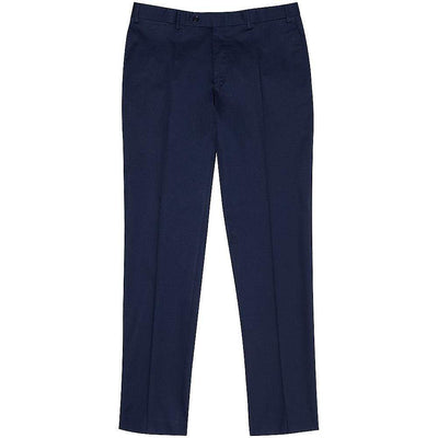 Canali-Canali Cotton Drill Stretch Formal Trousers-Henry Bucks