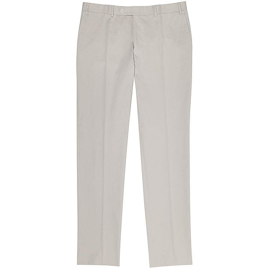 Canali Cotton Drill Stretch Formal Trousers