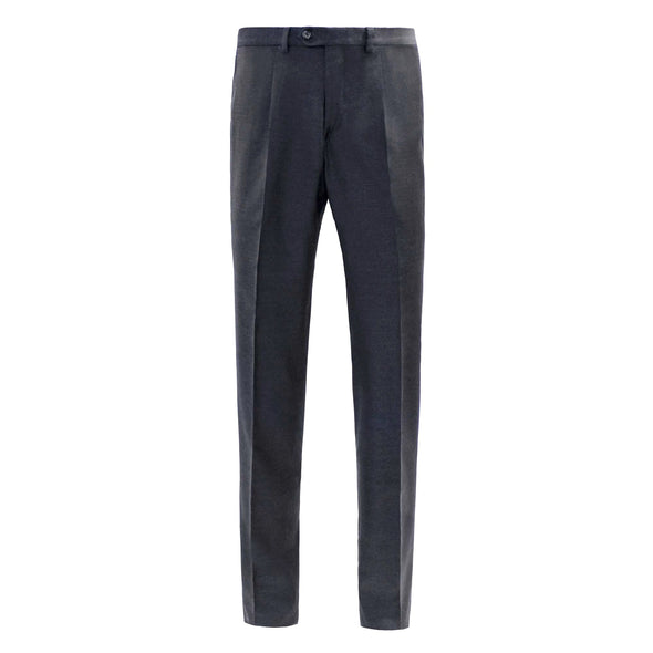 HB1890 TWILL WOOL SINGLE PLEAT TROUSER - CHARCOAL