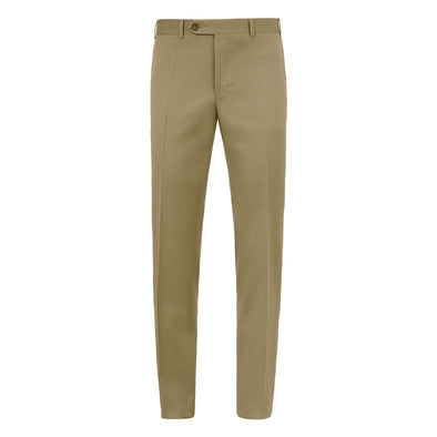 CANALI FLAT FRONT WOOL TROUSER