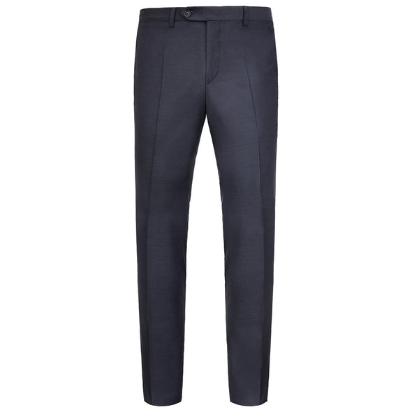 HB TWILL WOOL FF TROUSER NAVY REG