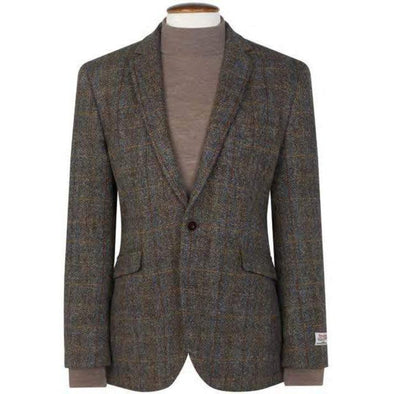 HARRIS TWEED PLAID BLAZER