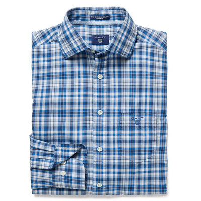 GANT-Gant Broadcloth Plaid Cotton Shirt-Henry Bucks