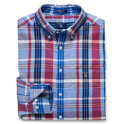 Gant Madras Plaid Check Cotton Shirt