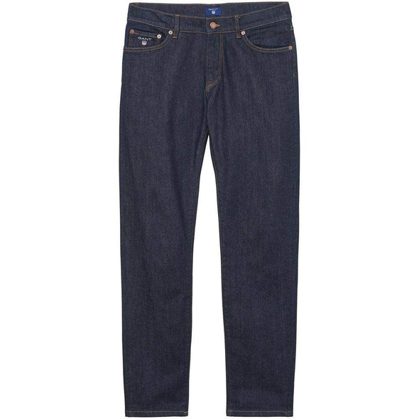 GANT-Gant Slim Straight Cotton Denim Jeans-Henry Bucks