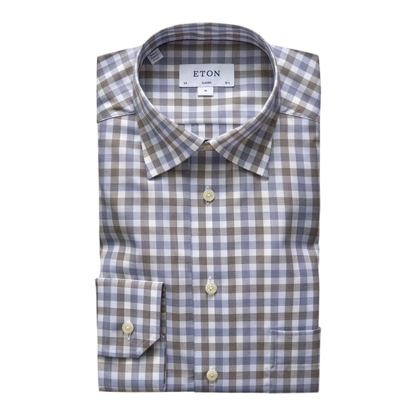 ETON CHECK TWILL SHIRT