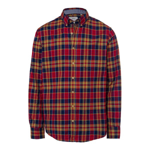 BRAX LIGHT FLANNEL CHECK SHIRT - RED