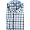 JACQUES BRITT SKY & ECRU CHECK SHIRT