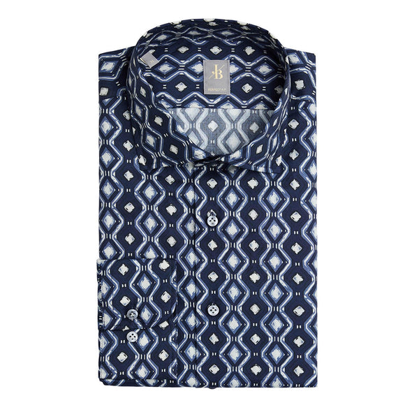 JACQUES BRITT DIAMOND PRINT SHIRT