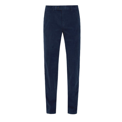 BRAX EVANS PIN CORD TROUSER BLUE