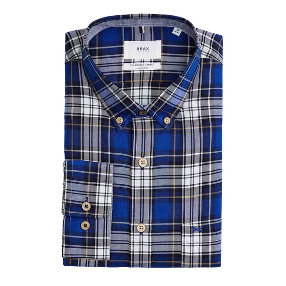 BRAX COTTON CHECK SHIRT