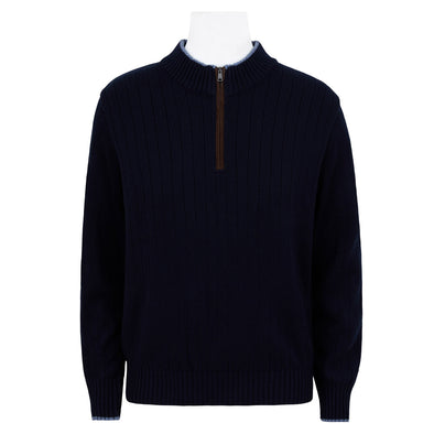 Paul & Shark 1/2 ZIP CASHMERE RIB KNIT
