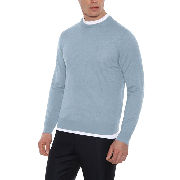 CANALI COTTON CREW NECK KNIT