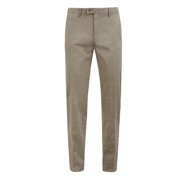 BRAX EVANS FLAT FRONT TROUSER - STONE