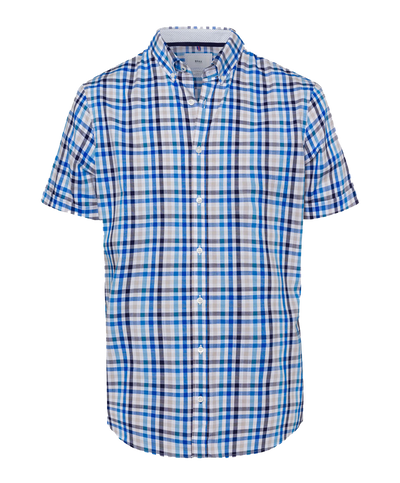 BRAX CHECK SHORT SLEEVE SHIRT