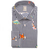 JACQUES BRITT STRIPE & FISH SHIRT