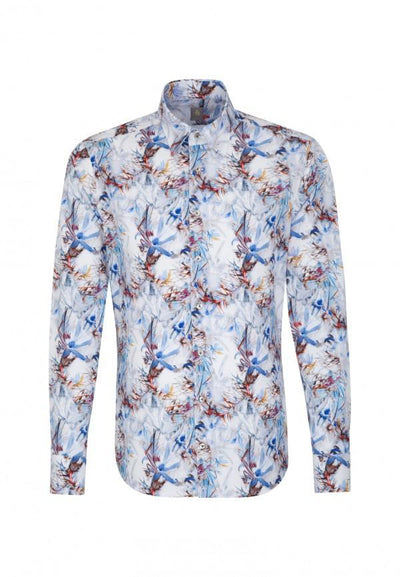 JACQUES BRITT TROPICAL PRINT SHIRT