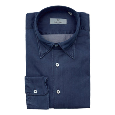 CANALI CHAMBRAY CASUAL SHIRT